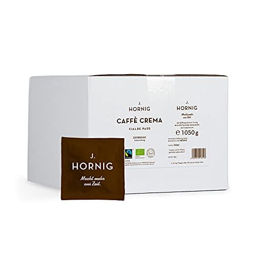 J. Hornig Caffè Crema Cialde-Pads | Kaffee-Pads Großpackung | 150 ESE-Cialde | mit Fairtrade-Zertifikat