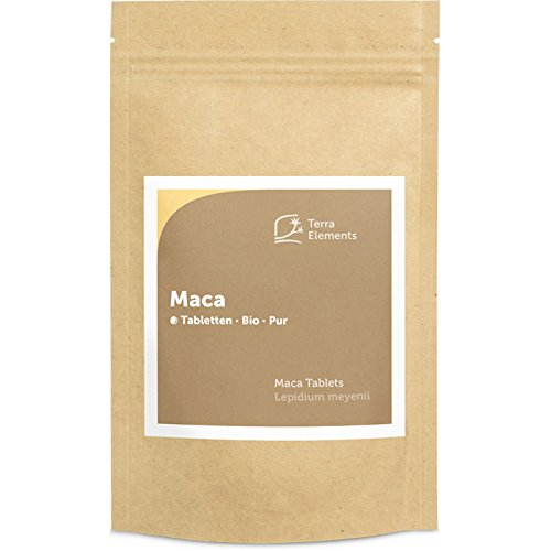 Terra Elements Bio Maca Tabletten (500 mg, 240 St) I Gelbe Maca-Wurzel aus Peru I 100{f70264899168bae4b6102cbcc16b69b9e96094d603695de67cd63ef2b70cf476} rein I Vegan I Rohkost
