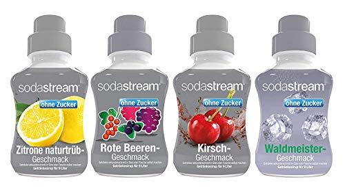 Sodastream 4er Packung Sirup Fruchtschorle ohne Zucker, 4x375 ml