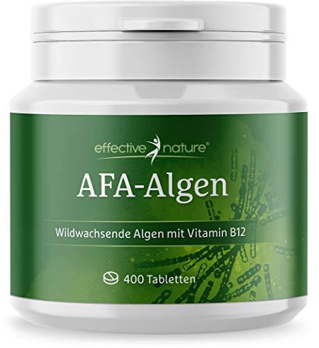 effective nature AFA Algen Tabs, beste Rohkostqualität, Presslinge aus 100 {5e3fb680c2bac9c85aa1c02db4ea2f66110e57742e20dcfeb36fd47d5bf9b4d1} reinem, veganen AFA-Algen-Pulver, Wildsammlung, hoher Proteingehalt, kontrolliert in Deutschland, 400 Tabletten