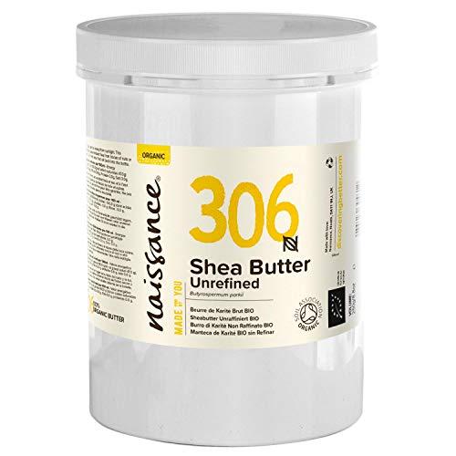 Naissance Sheabutter BIO (Nr. 306) 1kg (1000g) - rein und natürlich, unraffiniert, BIO zertifiziert, handgeknetet, vegan & parfümfrei - ethisch und nachhaltig hergestellt aus Ghana