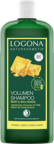 LOGONA Naturkosmetik Volumen Shampoo Bier & Bio-Honig, Verleiht feinem Haar traumhaftes Volumen, Stärkt & verleiht Fülle, Glänzendes Finish, Mit Bio-Pflanzenextrakten, 500ml