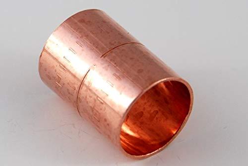 Muffe 15 mm / 5270 (VE 10 Stk) Kupfer Fitting Lötfitting Kupferfitting CU, 10 Stück, TOP Qualität