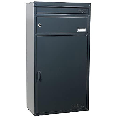 SafePost 65 Paketbriefkasten Ral 7016 anthrazit Briefkasten mit Paketfach Paketkasten Paketbox