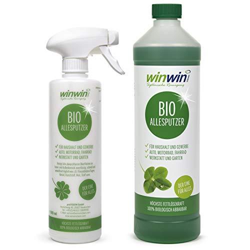 winwin clean Systemische Reinigung winwinCLEAN Allesputzer 1000ml *INKLUSIVE SPRÜHFLASCHE Kurze Zeit-