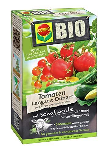 COMPO BIO Tomaten Langzeit-Dünger für alle Arten von Tomaten, 5 Monate Langzeitwirkung, 750 g