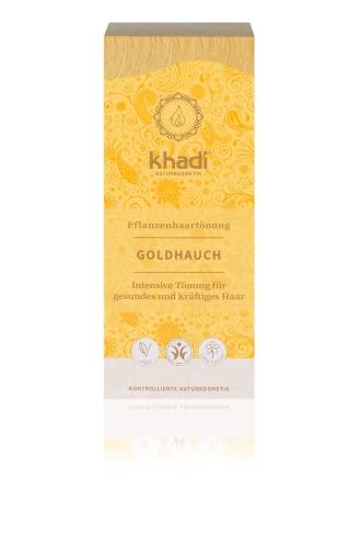 khadi Pflanzenhaarfarbe Goldhauch 100g I Haarfarbe für goldenes Blond bis Kupfer I Naturhaarfarbe 100{2199fcb4ddd3a942e691966f753f57753bfced9f91b0706a88bf0c60b06baea4} pflanzlich