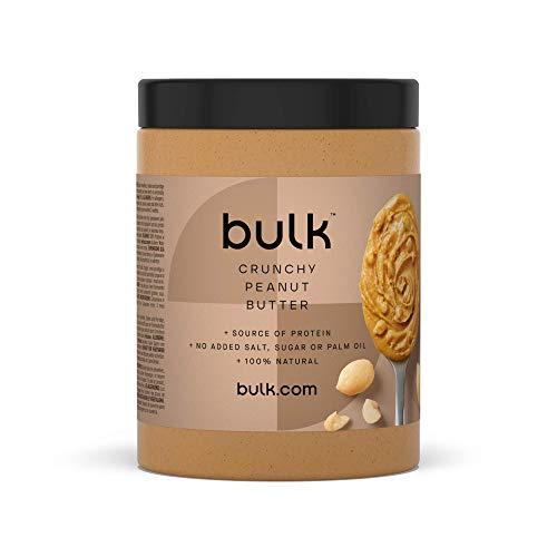 Bulk Powders Erdnussbutter, Protein Nussbutter aus 100{c5091d8a6dcaa8b06e1cbc85ae113792fe102e4fc68884737d201873a4d01510} reinsten Erdnüssen, 1 kg