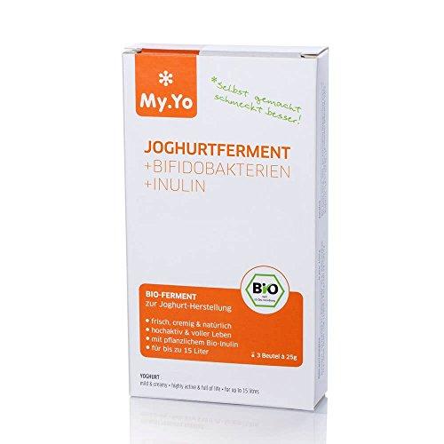 My.Yo Joghurt-Pulver Prebiotisch, Ferment zur Joghurtherstellung, 3 Beutel, Bio-Zertifiziert