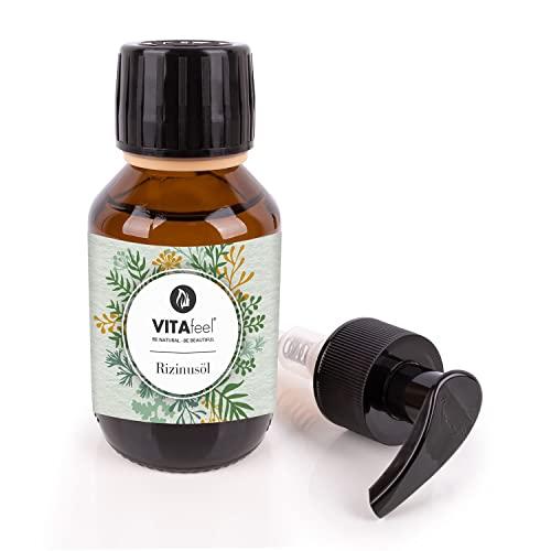 MeaVita Rizinusöl - 100{f99057b7beab34cec2f9b49ea5a7e0b5ea53293f6529552e561360fe14650281} reines kaltgepresstes Öl, 1er Pack (1 x 100 ml)