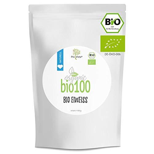 ProVista Bio100 Bio Eiweiss - Bio Protein - Organic Protein 900g (2x Honig-Vanille)