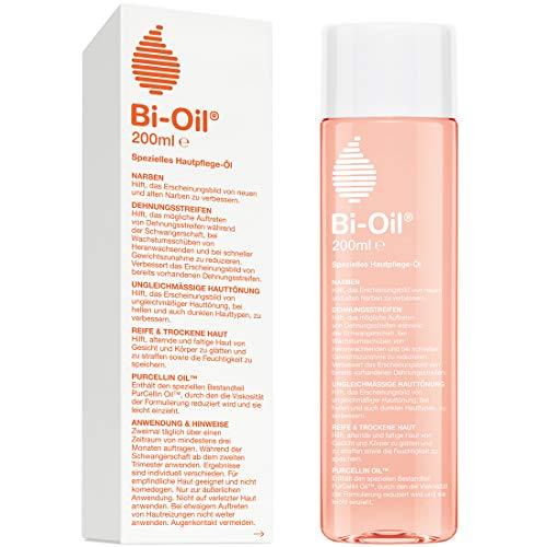 Bi-Oil Hautpflege-Öl, Spezielles Pflegeprodukt für Narben & Dehnungsstreifen (200 ml)