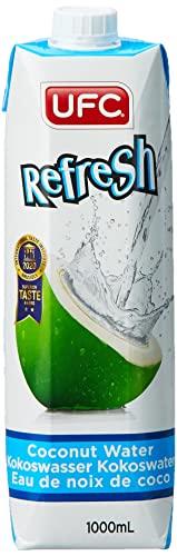 UFC Reines Kokoswasser 100{aec5430946ff2d7653b79a5175ee832bc04b9ed9e8f2bbb5d2d23751723cca32} Pure Kokosnusswasser Thailand 1 Litre Packung (Packung mit 6 Stücken)