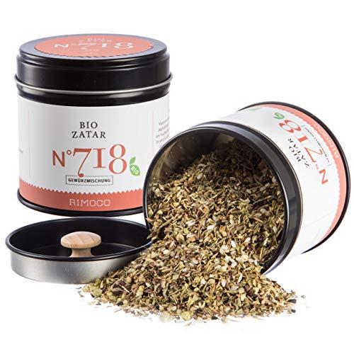 Bio Zatar/Za\'atar N°718 - traditionell, frisch orientalisch & zitronig, in eleganter Gewürzdose mit doppeltem Aromadeckel, Inhalt: 55g