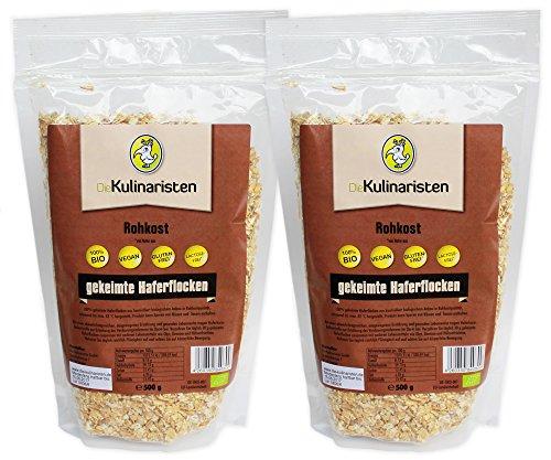 Die Kulinaristen Gekeimte Bio-Haferflocken, 2er Pack (2 x 500 g)