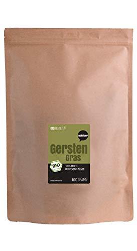 Wohltuer Bio Gerstengraspulver/Gemahlenes Gerstengras in Rohkostqualität aus Bayern (DE-ÖKO-006), 500 g