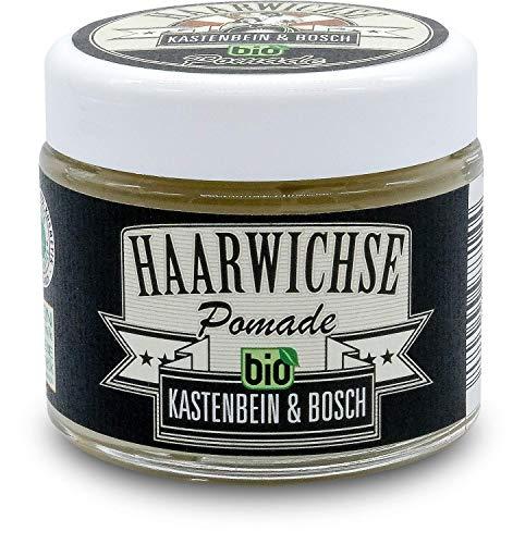 Bio Haarwichse Pomade - Haarwachs für seidig-glänzende Frisuren - Haarpflege & Haarstyling von den Friseurmeistern Kastenbein & Bosch (1 x 100ml)