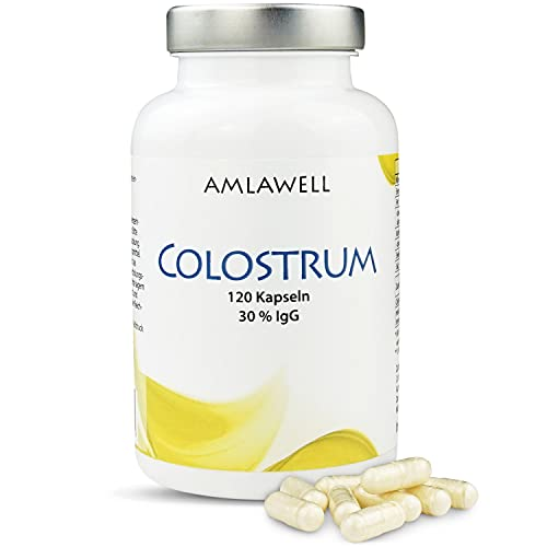 Amlawell Colostrum / 120 Kapseln / 500mg Colostrum Pulver