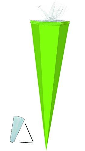 Unbekannt Schultüte Rohling - hell Grün - 85 cm / Tüllabschluß - Zuckertüte - zum Basteln, Bemalen und Bekleben Bastelschultüte