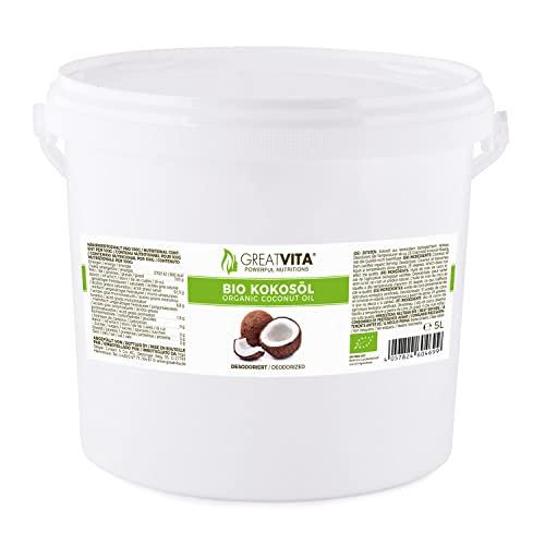 MeaVita Bio Kokosöl, Geschmacksneutral (desodoriert), 1er Pack (1 x 5000 ml)