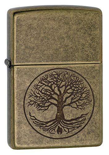Zippo Feuerzeug Motiv: Baum des Lebens - antikesMessing
