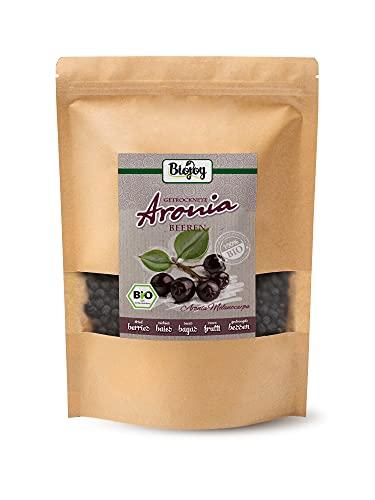 Biojoy BIO Aroniabeeren getrocknet | 100{2de832d026e49b9d0badc6543e4d681d8d32cc14c19f75a6542376681863922f} Aronia | ganze BIO-Aronia-Früchte | ohne Zusätze wie Aroma- und Konservierungsstoffe | aus kontrolliert biologischem Anbau | Aronia melanocarpa (1 kg )