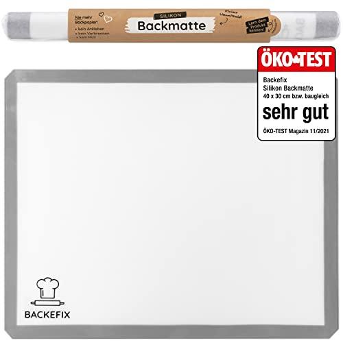 Backmatte Backpapier wiederverwendbar – Silikon Backpapier als Zero Waste Backzubehör, Silikonmatte (40x30cm)