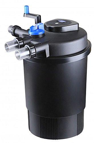 Aquaristikwelt24 CPF 30000 Bio Druckteichfilter 60000l Teichfilter Bachlauf inkl.55 Watt UVC Klärer Druckfilter Bachlauf UVC Lampe Klar