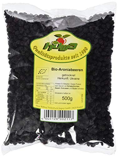 Howa Bio Aronia Beeren kbA getrocknet, 1 Pack (500 g)