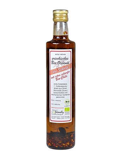 Extra natives Premium Bio Olivenöl kaltgepresst mit extra scharfer Chili