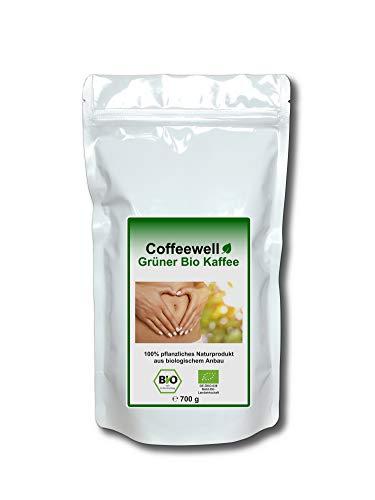 Detox Grüner Bio Kaffee 700g (Anwendung als Kaffeeeinlauf zur Entgiftung, Darmreinigung und Stärkung des Immunsystems)