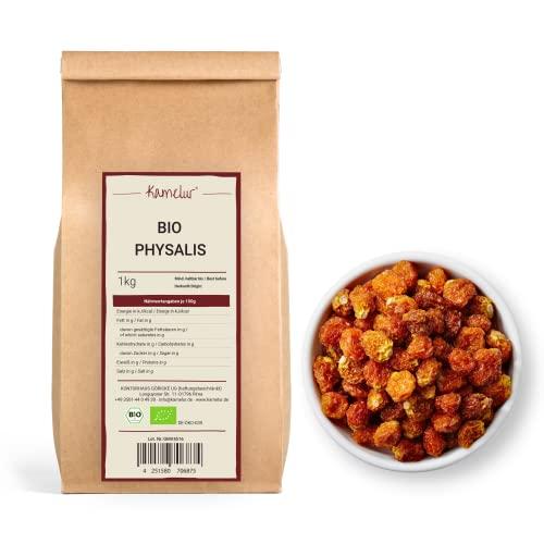 1kg BIO Kapstachelbeere Physalis getrocknet, leckere Trockenfrüchte ungeschwefelt und ungezuckert aus kbA