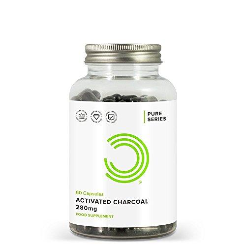 Bulk Powders Aktivkohle-Kapseln 280 mg, 60 Tabletten