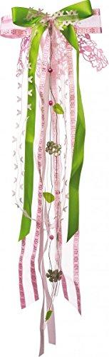 Nestler Schleife für Schultüten rosé/grün