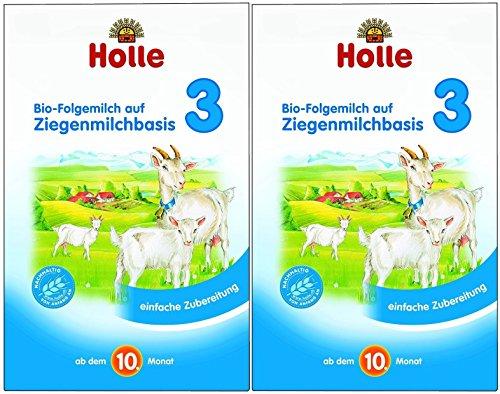 Holle Bio Folgemilch 3, auf Ziegenmilchbasis, 2er Pack (2 x 400g)
