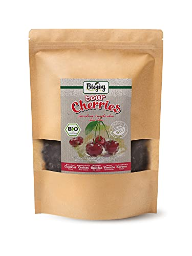 Biojoy getrocknete BIO-Sauerkirschen | 100{5babd3089ae9a302df284d015e530cb28f47d5c1c1a4fdd8e3af1c541e4758e7} Natur, ungezuckert & ungeschwefelt | ganze Kirsche, schonend getrocknet & entsteint | Premium-Bio-Qualität | Prunus cerasus (1 kg)