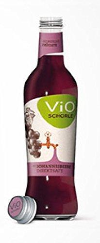 12 Flaschen a 300ml Vio Schorle Schwarze Johannisbeere inclusive 1.80€ MEHRWEG Pfand Glas