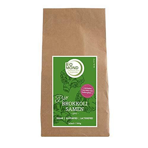 BIO Brokkoli Brokkoletti Samen Keimsprossen Keimsaat BIOMOND / 300 g / zur Sprossenaufzucht / zum Keimen / hoher Sulforaphan-Gehalt / auch ganz zu verwenden / KEIN SAATGUT FÜR DAS GEMÜSE BROKKOLI