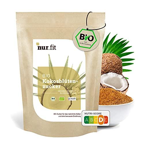 NuraFit BIO Kokosblütenzucker, rein natürlicher Zuckerersatz karamellig, Süßungsmittel Zuckersubstitut, zertifizierte Spitzenqualität, 1kg, 1000g