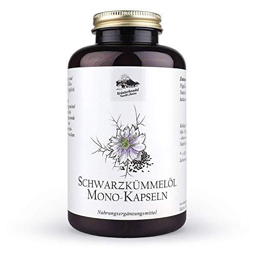 Kräuterhandel Sankt Anton - Schwarzkümmelöl Kapseln - 400 Kapseln - mit Vitamin E - Deutsche Premium Qualität