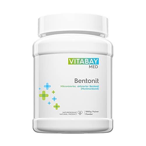 Bentonit DETOX Pulver 1000 g - Medizinprodukt - mikronisierter aktivierter Bentonit - Ultrafein - Montmorillonit Gehalt über 90{e19f4d2fc2a4005a6eaa149fe2179dd060c4cbbf59a03a3298b176779a21c78f} - zur Entgiftung, Schwermetall-Ausleitung, Leber-Reinigung