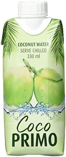 Coco Primo Kokosnusswasser (pur, erfrischendes Sportgetränk, exotischer Genuss, wohltuender Durstlöscher, kalorienarm, vegan) 12 x 330 ml