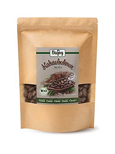BIO-Kakaobohnen roh | naturbelassene & ungeröstete ganze Bohnen | 100 {541d7ab2cbb0d9fbe2937a53ab762035d936e0cdb13c8471f6764929187d3c1c} Rohkost-Qualität | Ideal als Kakao-Nibs | frischeversiegelte Cacao-Beans | (Theobroma cacao) (1 kg)