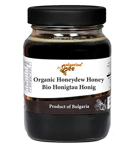 450 g Roher Bio Schwarz Honigtau Honig aus Eichenblättern, Unbeheizter, nicht pasteurisiert
