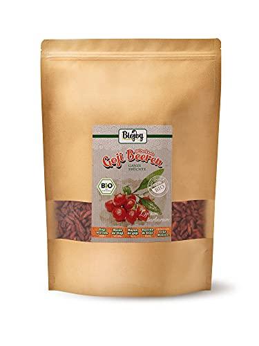 Biojoy getrocknete BIO-Goji-Beeren (1 kg)   auf über 500 Pestizide geprüfte Goji Beeren   naturreine Wolfsbeeren   ungeschwefelt & ungezuckert   Superfood-Beeren ohne Zusätze   (1 kg)