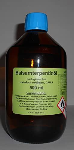 500 ml Hochwertiges Portugiesisches Balsam Terpentinöl DAB 9, farblos, mehrfach rektifiziert