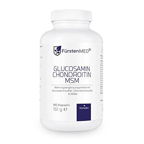 FürstenMED® Glucosamin + Chondroitin + MSM Kapseln - Hochdosierter Komplex ohne Zusatzstoffe aus Deutschland