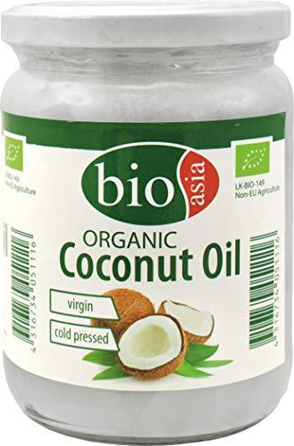 Bioasia Bio Kokosöl 100{ff9b36fd4ab1be39aa358bab3526c3cb195802fc655e23a0d4c9cdee45f0280f}, kaltgepresst, 1er Pack (1 x 500 ml)