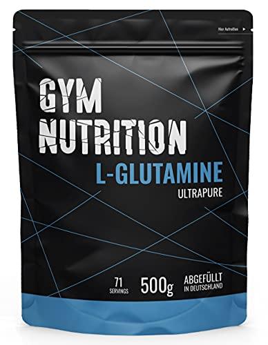 GYM-NUTRITION® - L-GLUTAMIN Ultrapure Pulver - extra hochdosiert & 99,5 {a35de00114e9fba5ab9af97a5d52d82acb6e3c42829c8bbfa49b42e4ece5275b} rein - proteinogene Alpha-Aminosäure, vegan - ideal für Body-Builder - Made in Germany - 500-g, Geschmack: NEUTRAL