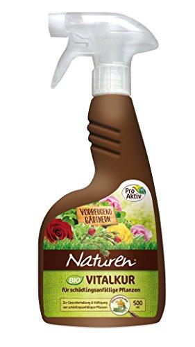 Naturen Bio Vitalkur Anwendungsfertiges Pflanzenstärkungsmittel für schädlingsanfällige Pflanzen, 500 ml Sprühflasche